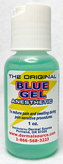Blue Gel Anesthetic