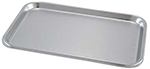 "Instrument Tray - Stainless Steel - Flat - Small - 10"" x 15"""