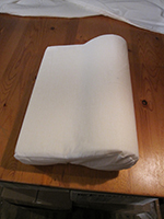 Cervical Pillow - Vinyl - White