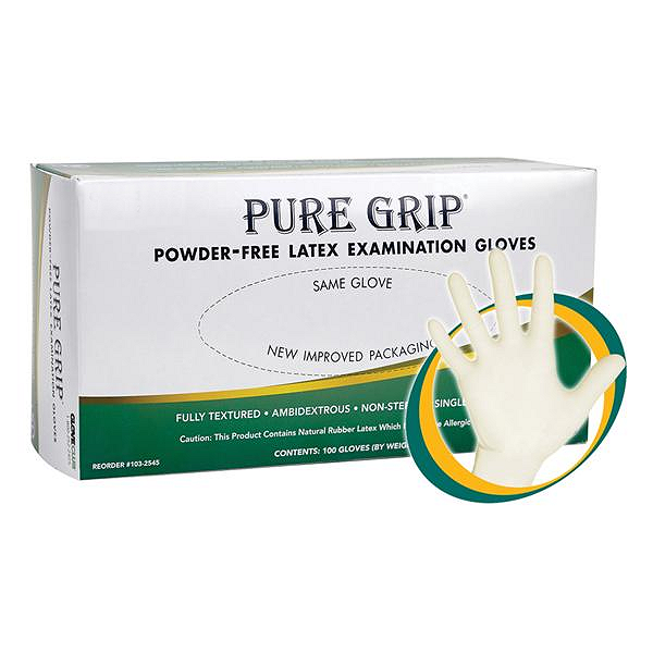 Pure Grip Latex Gloves - X-Small