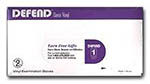 Defend Vinyl Powdered Gloves - Small - 100/Box