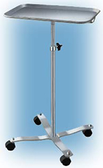 Mayo Instrument.Stand - w/casters - Stainless Steel