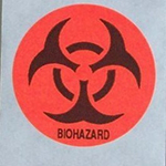 "15/16"" Diameter Round Biohazard Stickers"