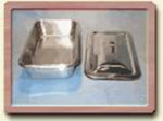 Instrument Tray - Small Boat Stainless Steel - w/Lid